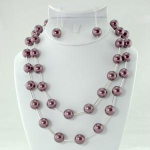 The Jackie-Oh! in Burgundy Necklace & Earring Set