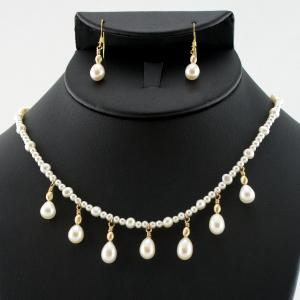 The Pearl Drop Necklace & Earring Set