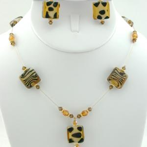 The Safari Necklace & Earring Set
