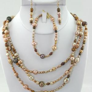 Flapper's Pearls In Gold (3 Piece Set)