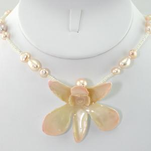 The Eternal Orchid Necklace - Cream