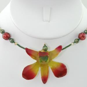 The Eternal Orchid Necklace - Rust