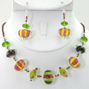 Candy Shop In Multi-Color Necklace & Earring Set
