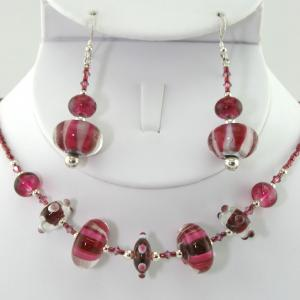 The Candy Shop In Red Necklace & Earring Set