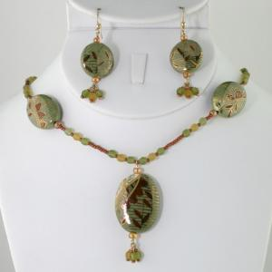 Where The Red Fern Grows Necklace & Earring Set
