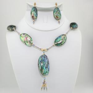 Goddess Of The Sea Necklace & Earring Set