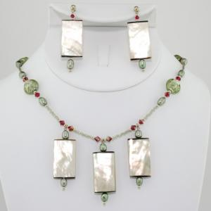 The Absinthe Necklace & Earring Set